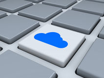 Abstract keyboard with cloud button Stock Image