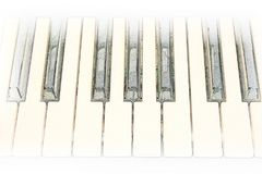Abstract keyboard of the piano foreground Watercolor . vector illustration