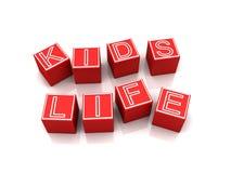 Abstract Kids Life sign Stock Photos