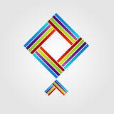 Abstract kite shaped logo Stock Images