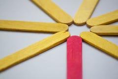 Abstract kleuren houten close-up als achtergrond Stock Fotografie
