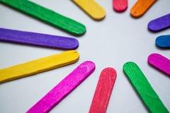 Abstract kleuren houten close-up als achtergrond Royalty-vrije Stock Afbeeldingen