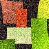 Abstract kleurenmozaïek stock illustratie