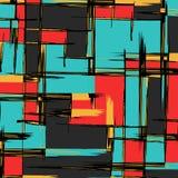 Abstract kleurenpatroon in graffitistijl kwaliteits vectorillustratie voor uw ontwerp stock illustratie