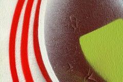 Abstract kleurrijk achtergrond-dicht omhoog-straatart. Royalty-vrije Stock Fotografie