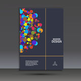 Abstract kleurrijk achtergrond digitaal cirkeleffect Stock Foto
