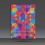 Abstract kleurrijk achtergrond digitaal cirkeleffect Royalty-vrije Stock Foto's