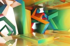 Abstract kleurrijk binnenland Royalty-vrije Stock Afbeeldingen