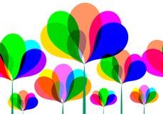 Abstract kleurrijk bloemenontwerp Royalty-vrije Stock Foto