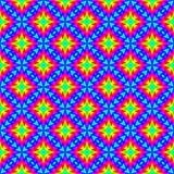 Abstract kleurrijk bloemenpatroon De kleurenspectrum van de mozaïekregenboog De veelkleurige achtergrond van de tegeltextuur Naad Stock Fotografie