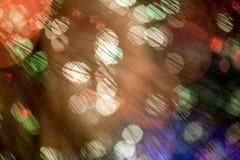 Abstract kleurrijk bokehlicht Stock Foto's