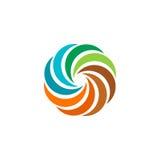 abstract kleurrijk cirkelzonembleem Ronde vormregenboog logotype vector illustratie