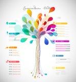 Abstract kleurrijk curriculum vitae Royalty-vrije Stock Afbeelding