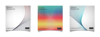 abstract kleurrijk de dekkingsmalplaatje van de lijnkunst met van het de samenstellingsontwerp van de gradiëntvorm het concepten  Stock Fotografie