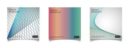 abstract kleurrijk de dekkingsmalplaatje van de lijnkunst met van het de samenstellingsontwerp van de gradiëntvorm het concepten  Stock Afbeeldingen
