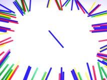 Abstract kleurrijk die stokkenkader op witte achtergrond wordt geïsoleerd Stock Afbeeldingen