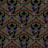Abstract kleurrijk dwarsborduurwerk vector naadloos patroon vector illustratie