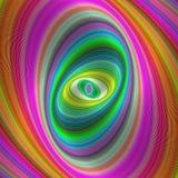 Abstract kleurrijk elliptisch geometrisch digitaal art. vector illustratie