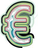 Abstract kleurrijk Euro teken Vector Illustratie