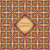 Abstract kleurrijk geometrisch naadloos patroon Bloementextuur als achtergrond Royalty-vrije Stock Afbeeldingen