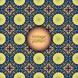 Abstract kleurrijk geometrisch naadloos patroon Bloementextuur als achtergrond Stock Afbeeldingen