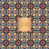 Abstract kleurrijk geometrisch naadloos patroon Bloementextuur als achtergrond Royalty-vrije Stock Afbeelding