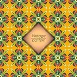 Abstract kleurrijk geometrisch naadloos patroon Bloementextuur als achtergrond Royalty-vrije Stock Foto