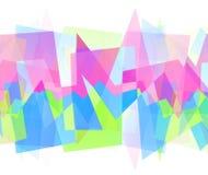 Abstract kleurrijk geometrisch patroon Stock Afbeeldingen