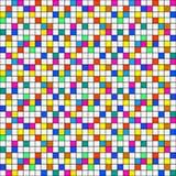 Abstract kleurrijk geregeld naadloos patroon Royalty-vrije Stock Fotografie