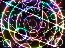 Abstract kleurrijk gloeiend neon op zwarte vector als achtergrond Royalty-vrije Stock Afbeelding