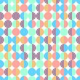 Abstract kleurrijk half cirkels naadloos geometrisch patroon in vector op witte achtergrond Royalty-vrije Stock Afbeelding