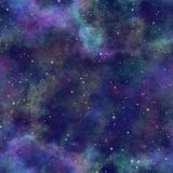 Abstract kleurrijk heelal, de sterrige hemel van de Nevelnacht, Veelkleurige kosmische ruimte, Galactische textuurachtergrond, Na stock illustratie