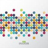 Abstract kleurrijk het pixel van het cirkelpatroon ontwerp als achtergrond voor pri Stock Foto