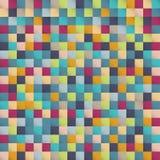 Abstract kleurrijk het pixel van het vierkantenpatroon ontwerp als achtergrond voor PR vector illustratie