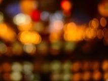 Abstract kleurrijk licht bij nachtachtergrond Stock Foto