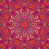 Abstract kleurrijk mandalapatroon Stock Afbeeldingen