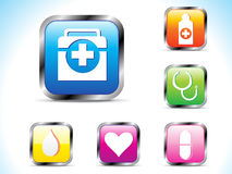 Abstract kleurrijk medisch pictogram Stock Afbeelding