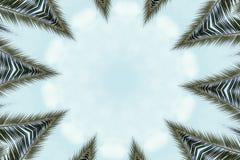 Abstract kleurrijk modern cirkelmandala en caleidoscooppatroon Stock Fotografie