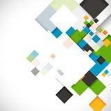 Abstract kleurrijk modern geometrisch malplaatje, illustratie Stock Afbeelding
