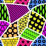 Abstract kleurrijk naadloos patroon Stock Foto