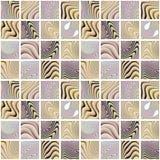 Abstract kleurrijk naadloos patroon op witte achtergrond Stock Afbeeldingen