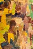 Abstract kleurrijk olieverfschilderij als achtergrond op canvas. Royalty-vrije Stock Afbeelding