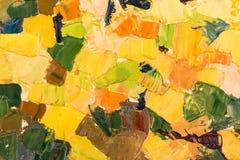 Abstract kleurrijk olieverfschilderij als achtergrond op canvas. Stock Foto's