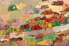 Abstract kleurrijk olieverfschilderij als achtergrond op canvas. Royalty-vrije Stock Afbeeldingen