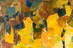 Abstract kleurrijk olieverfschilderij als achtergrond op canvas. Royalty-vrije Stock Fotografie