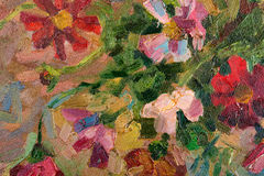 Abstract kleurrijk olieverfschilderij als achtergrond op canvas. Royalty-vrije Stock Foto