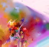 Abstract kleurrijk olieverfschilderij op canvas Royalty-vrije Stock Afbeelding