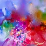 Abstract kleurrijk olieverfschilderij op canvas Stock Foto's