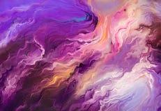 Abstract kleurrijk olieverfschilderij op canvastextuur vector illustratie