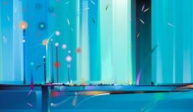 Abstract kleurrijk olieverfschilderij op canvastextuur Semi abstract beeld van de achtergrond van landschapsschilderijen royalty-vrije illustratie